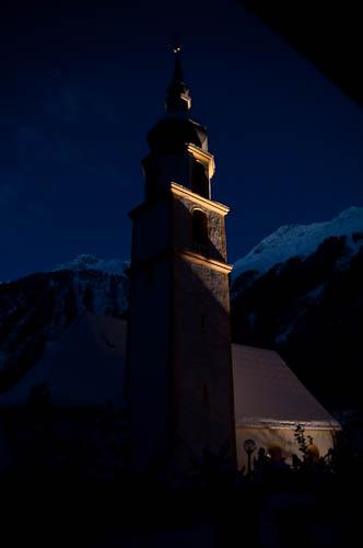 Kirchturm in Feichten Kaunertal